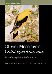 Olivier Messiaen's Catalogue d'oiseaux