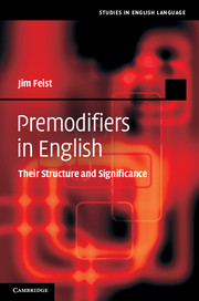 Premodifiers in English