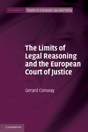 The Limits of Legal Reasoning and the European Court of Justice