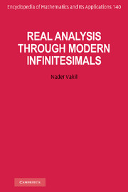 Real Analysis through Modern Infinitesimals