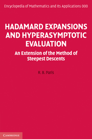 Hadamard Expansions and Hyperasymptotic Evaluation