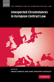Unexpected Circumstances in European Contract Law