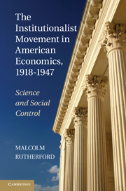 The Institutionalist Movement in American Economics, 1918–1947