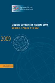 Dispute Settlement Reports 2009