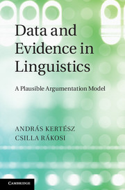Data and Evidence in Linguistics