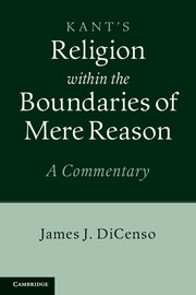 Kant: Religion within the Boundaries of Mere Reason