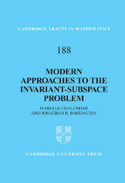 Modern Approaches to the Invariant-Subspace Problem
