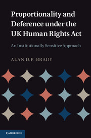 Proportionality and Deference under the UK Human Rights Act