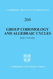 Group Cohomology and Algebraic Cycles