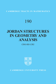 Jordan Structures in Geometry and Analysis