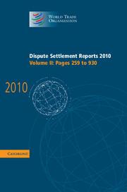 Dispute Settlement Reports 2010