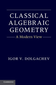 Classical Algebraic Geometry