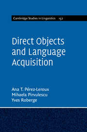 Direct Objects and Language Acquisition