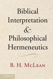 Biblical Interpretation and Philosophical Hermeneutics