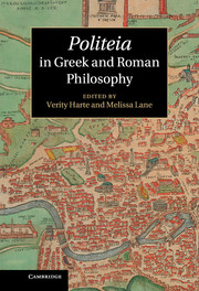 Politeia in Greek and Roman Philosophy