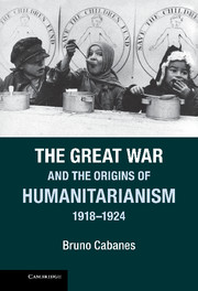 The Great War and the Origins of Humanitarianism, 1918–1924