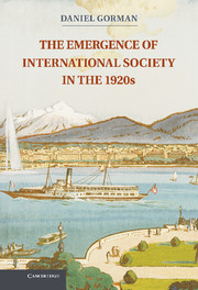 The Emergence of International Society in the 1920s