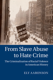 From Slave Abuse to Hate Crime