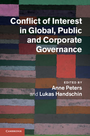 Conflict of Interest in Global, Public and Corporate Governance