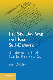 The Six-Day War and Israeli Self-Defense