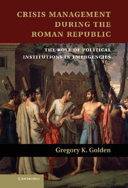 Crisis Management during the Roman Republic