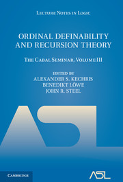 Ordinal Definability and Recursion Theory