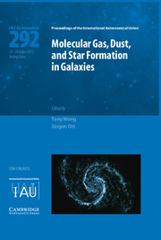 Molecular Gas, Dust, and Star Formation in Galaxies (IAU S292)