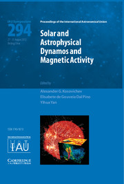 Solar and Astrophysical Dynamos and Magnetic Activity (IAU S294)