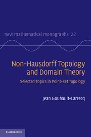 Non-Hausdorff Topology and Domain Theory