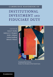Cambridge Handbook of Institutional Investment and