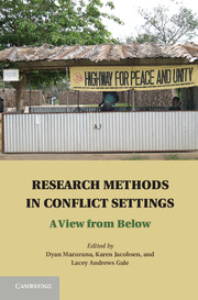 Research Methods in Conflict Settings