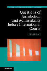 Questions of Jurisdiction and Admissibility before International Courts