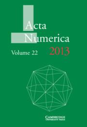 Acta Numerica 2013