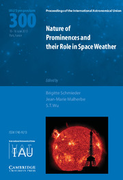 Nature of Prominences and their Role in Space Weather (IAU S300)