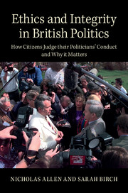 Ethics and Integrity in British Politics