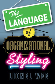 The Language of Organizational Styling