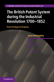 The British Patent System during the Industrial Revolution 1700–1852