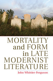 t s eliot context english literature  mortality and form in late modernist literature
