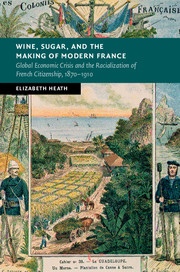 Book jacket for Wine, Sugar, and the Making of Modern France