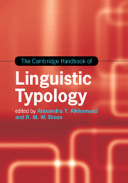 The Cambridge Handbook of Linguistic Typology