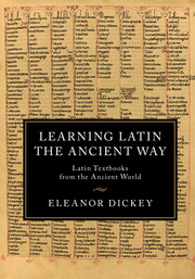 Learning Latin the Ancient Way