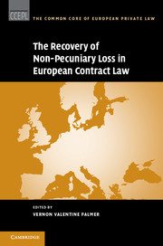 The Recovery of Non-Pecuniary Loss in European Contract Law