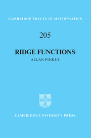 Ridge Functions