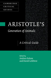 Aristotle's Generation of Animals