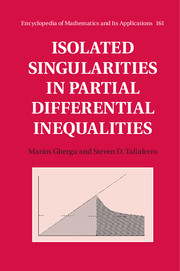 Isolated Singularities in Partial Differential Inequalities