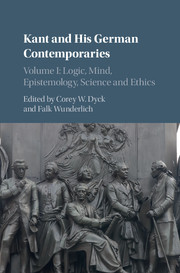 Kant and his German Contemporaries