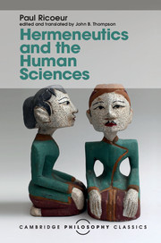 Hermeneutics and the Human Sciences