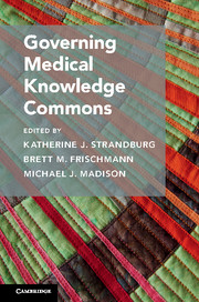 Cambridge Studies on Governing Knowledge Commons