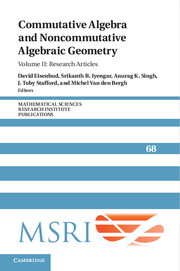 Commutative Algebra and Noncommutative Algebraic Geometry