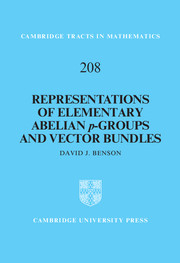 Representations of Elementary Abelian p-Groups and Vector Bundles